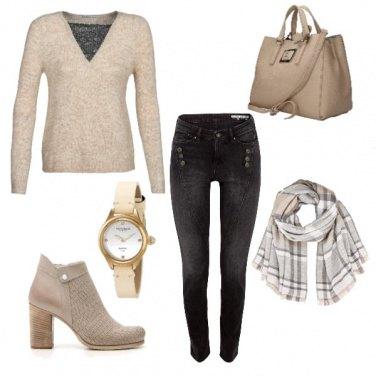 Outfit Nei toni del beige