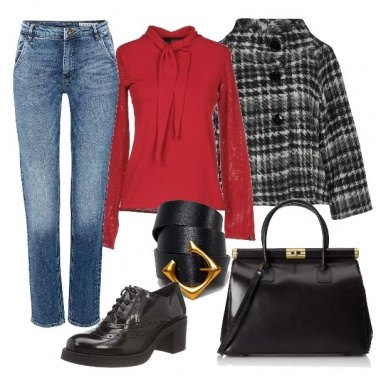 Outfit Camicetta rossa