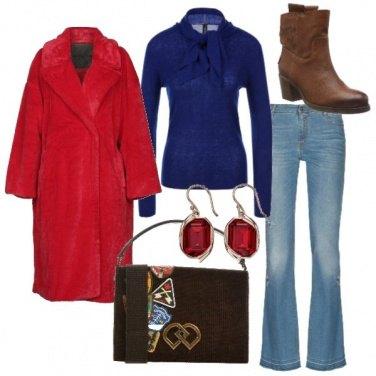 Outfit Ecopelliccia rossa