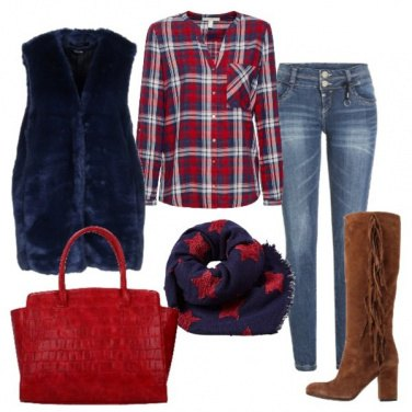 Outfit Jeans skinny e stivale stile country