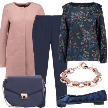 Outfit Romantica con ballerine in denim