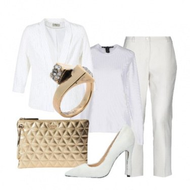 Outfit Bianco chic