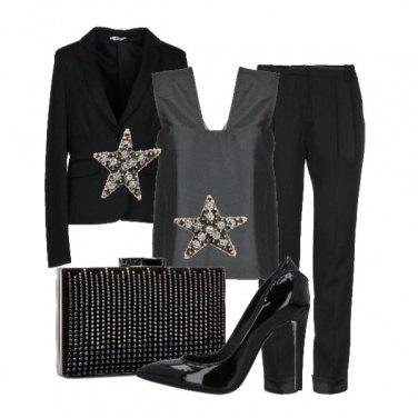Outfit Nero di seta