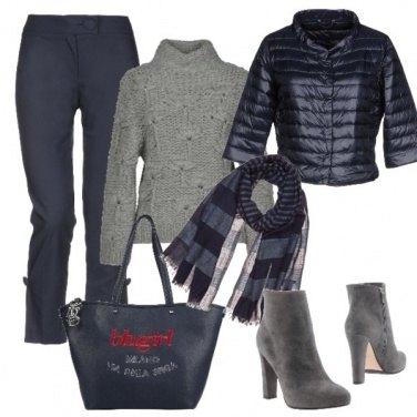 Outfit Il maglione in lana grossa