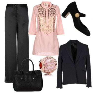 Outfit Blusa etnica... Ma chic!