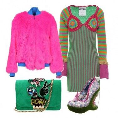 Outfit Tacco floreale e stravaganza
