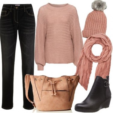 Outfit Basic in pink