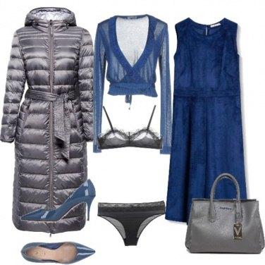 Outfit Super chic in grigio e blu