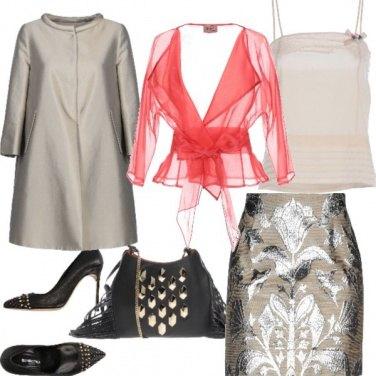 Outfit Mai senza:il rosso