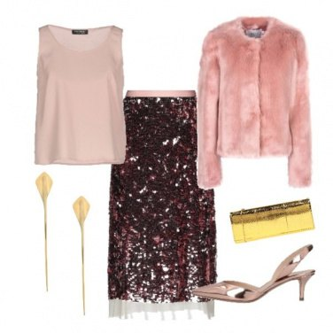 Outfit Capodanno pink
