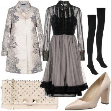 Outfit Bon ton pink-grey-black