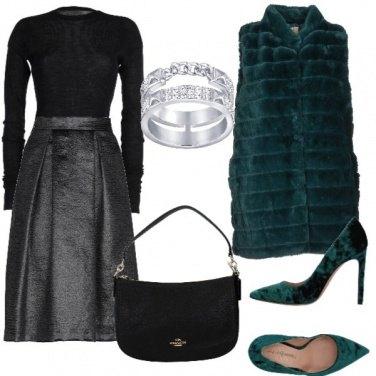 Outfit Décolleté in velluto