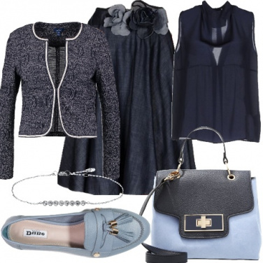 Outfit Una donna di classe in denim