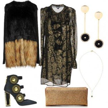 Outfit Oro e nero trendy style