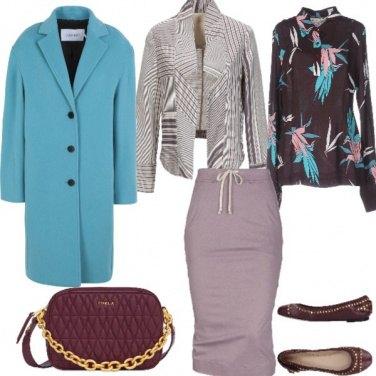 Outfit La giacca fantasia geometrica