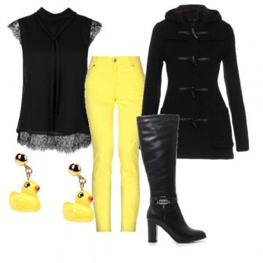 Outfit Yellow chic style