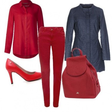 Outfit Outfits rosso fuoco