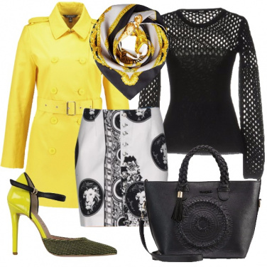 Outfit Stampe in bianco e nero
