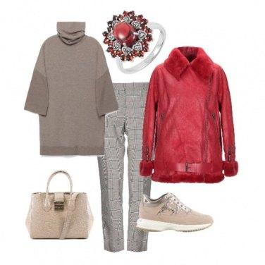 Outfit Con il giubbotto rosso