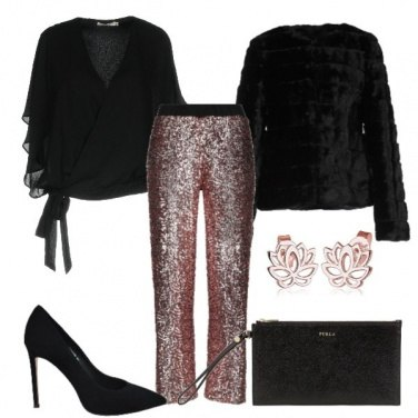 Outfit Pantaloni in paillettes
