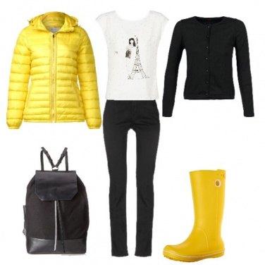 Outfit Solare con la pioggia