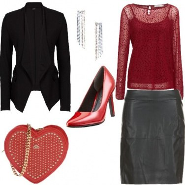 Outfit Merry christmas in red and black