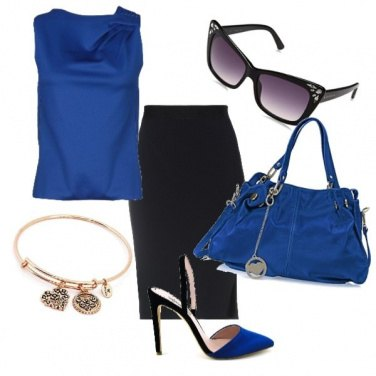 Outfit Chic in blu..
