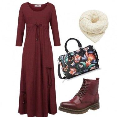 Outfit Abito lungo e anfibi