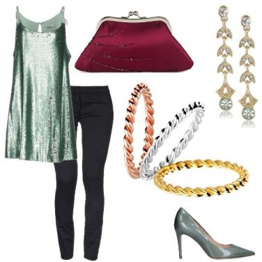 Outfit Chic in verde salvia