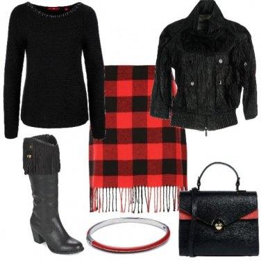 Outfit Frange rosse