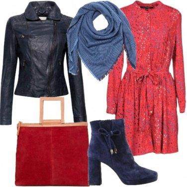 Outfit Il rosso e il blu