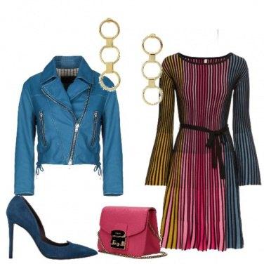 Outfit Abito in maglina plissettato