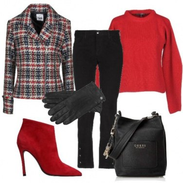 Outfit Giacca tartan