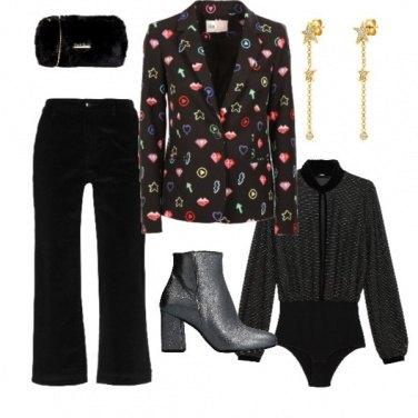 Outfit Con la giacca in fantasia
