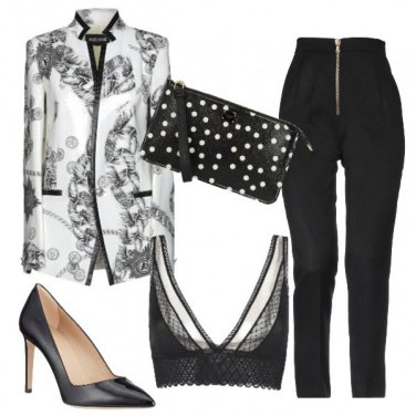 Outfit Sotto la giacca in fantasia