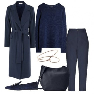 Outfit Minimal style in blu