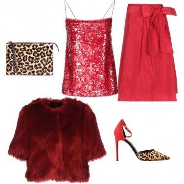 Outfit Rosso&leopardo#capodanno