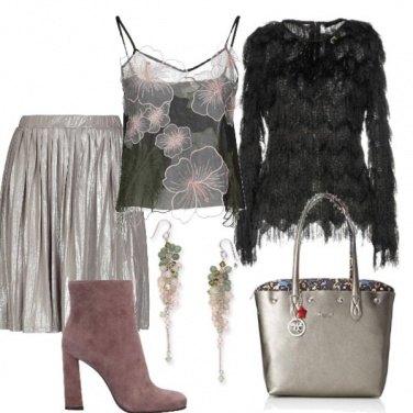 Outfit Romantica con fiori