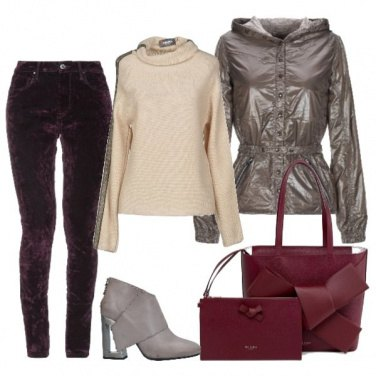 Outfit Giacca in tessuto lame\'