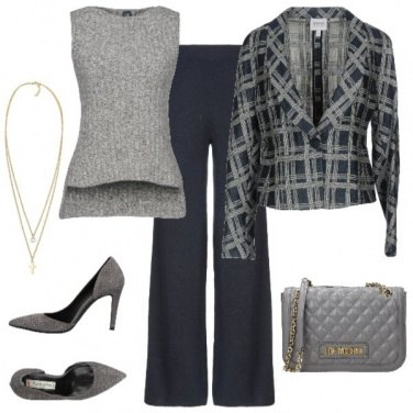 Outfit Giacca fantasia Grey