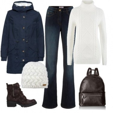 Outfit Minimal in inverno