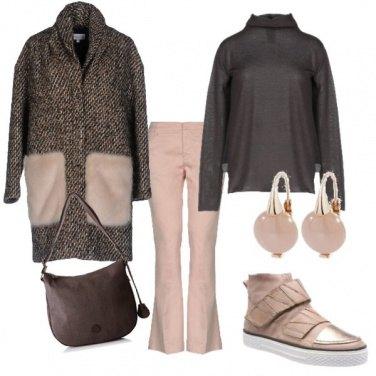 Outfit Rosa e marrone