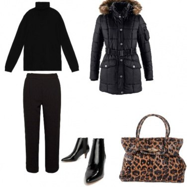 Outfit Bon Ton, total black low cost