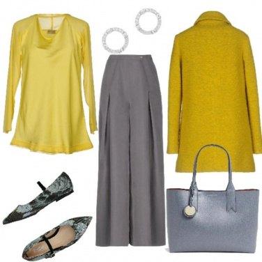 Outfit Grigio e Ocra