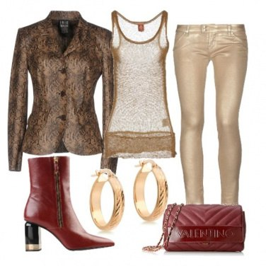 Outfit Giacca con stampa serpente