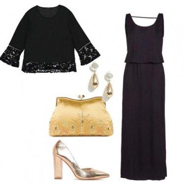 Outfit Nero&Oro low cost#capodanno