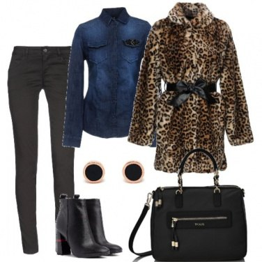 Outfit L\'ecopelliccia animalier