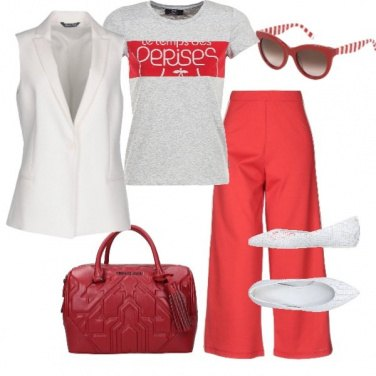 Outfit Red and white day