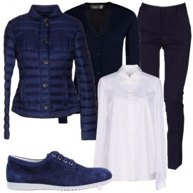 Outfit Una donna in blu