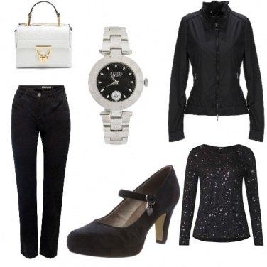 Outfit Capodanno in nero